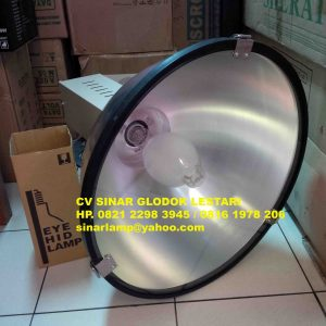 Kap lampu industri 360w Iwasaki + tutup kaca safety glass