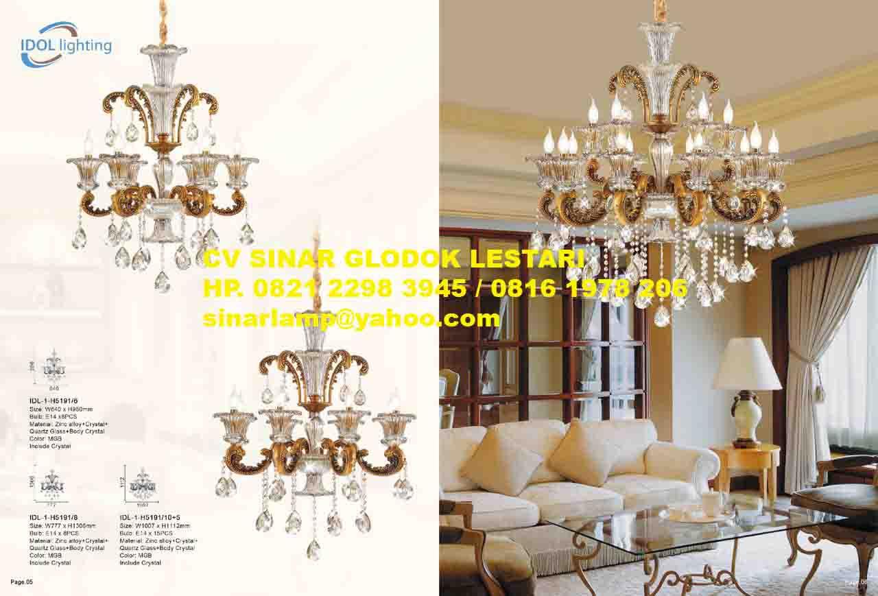 Lampu Gantung Kristal Untuk Ruang Tamu