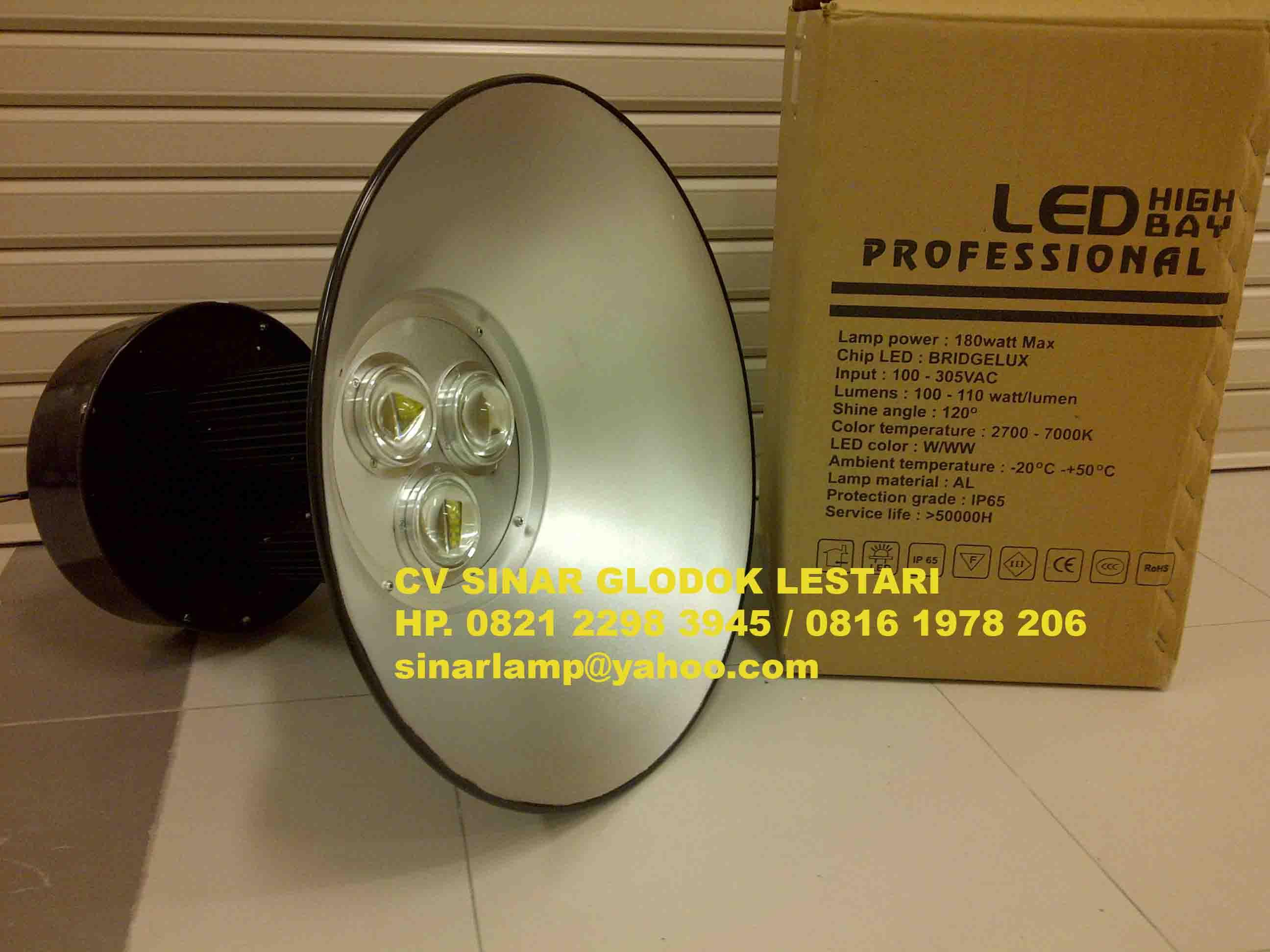 Lampu Industri Led Hdk High Bay 180w Bridgelux Agen Dan